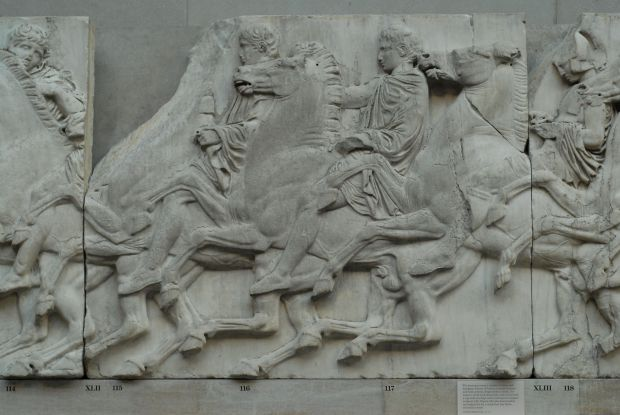 Details of the Panathenaic Festival procession frieze